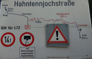 Hahntennjoch Start Schild